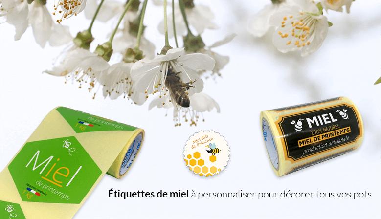 Etiquettes miel Labelpix