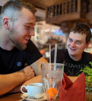 Djordje et Pierre au restaurant d'Europa Park au séminaire 2019