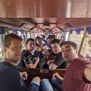 Equipe PP dans un train à Europa Park au séminaire 2019
