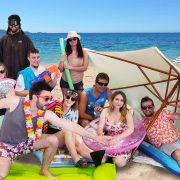 Equipe PP vacances à la plage