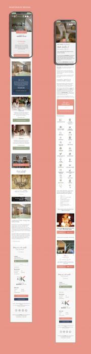 La Villa K site responsive